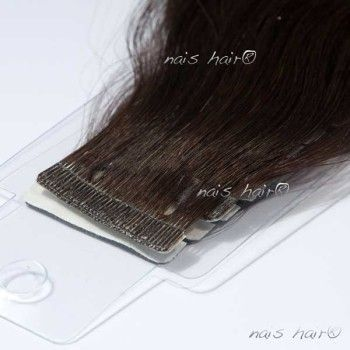 Tape Hair Extensions Wavy #2 (Darkest Brown)
