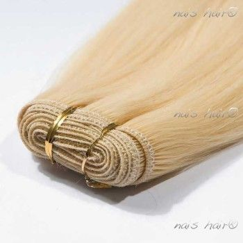 Hair Weft Extensions #24 (Light Blonde)