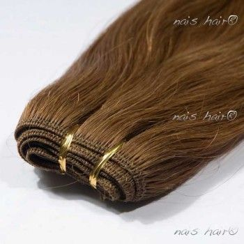 Hair Weft Extensions #6 (Medium Brown)