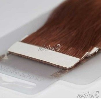 Tape Hair Extensions Wavy #33 (Dark Auburn Brown)