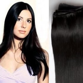 Hair Weft Extensions #1 (Jet Black) 24 Inch