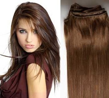 Weft hair extensions 6 medium brown 24 inch weft hair extensions pmusecretfo Gallery