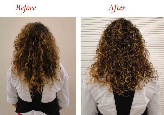 Hair Extensions For Super Short Hair Before And After Triple Weft